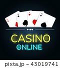カジノ カジノの カードのイラスト 43019741
