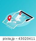ナビ ナビゲーション 地図のイラスト 43020411