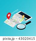 地図 ナビ ナビゲーションのイラスト 43020415