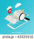 地図 ナビ ナビゲーションのイラスト 43020416