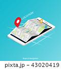 ナビ ナビゲーション 地図のイラスト 43020419
