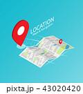 ナビ ナビゲーション 地図のイラスト 43020420