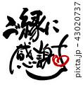 筆文字 文字 ご縁に感謝のイラスト 43020737