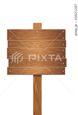 看板 木 立て札 Png切り抜き素材のイラスト素材 43021287 Pixta