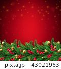 クリスマス フレーム バックグラウンドのイラスト 43021983