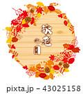 紅葉 秋 落ち葉のイラスト 43025158