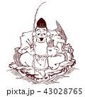 恵比寿 恵比寿様 七福神のイラスト 43028765
