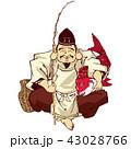 恵比寿 恵比寿様 七福神のイラスト 43028766