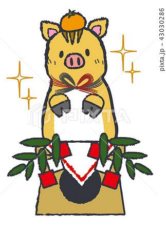 鏡餅風猪 43030286