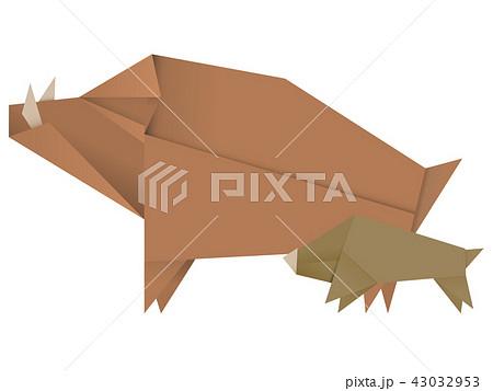 猪折り紙のイラスト素材 43032953 Pixta