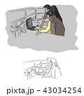 人々 人物 コンピュータのイラスト 43034254