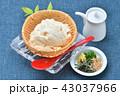 夏の寄せ豆腐、寄せとうふ、ざる豆腐、冷奴(冷やっこ)お豆腐、冷たいとうふ、イメージ。 43037966