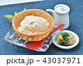 夏の寄せ豆腐、寄せとうふ、ざる豆腐、冷奴(冷やっこ)お豆腐、冷たいとうふ、イメージ。 43037971