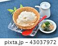 夏の寄せ豆腐、寄せとうふ、ざる豆腐、冷奴(冷やっこ)お豆腐、冷たいとうふ、イメージ。 43037972