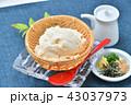 夏の寄せ豆腐、寄せとうふ、ざる豆腐、冷奴(冷やっこ)お豆腐、冷たいとうふ、イメージ。 43037973