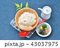 夏の寄せ豆腐、寄せとうふ、ざる豆腐、冷奴(冷やっこ)お豆腐、冷たいとうふ、イメージ。 43037975