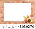 レンガ 秋 背景のイラスト 43039270