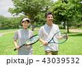 ミドルカップル テニス スポーツ イメージ 43039532