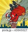 クリスマス サンタ えんとつのイラスト 43045027