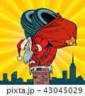 タイヤ クリスマス サンタのイラスト 43045029