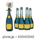 お酒 ぶどう酒 ワインのイラスト 43045040