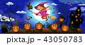 ハロウィン 魔女 キャラクターのイラスト 43050783