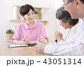 介護保険認定調査をするケアマネージャー 介護支援専門員 43051314