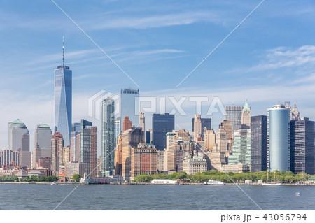 Panoramic view of Lower Manhattan, New York City, USA 43056794