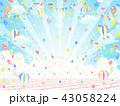 バルーン 空 背景のイラスト 43058224