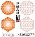 背景素材 ベクター パターンのイラスト 43058277