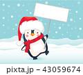 ぺんぎん ペンギン クリスマスのイラスト 43059674
