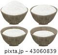 白バック ごはん 白飯のイラスト 43060839