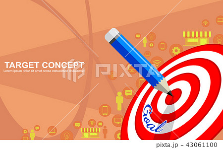 target marketing business strategy template designのイラスト素材