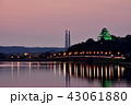 唐津城 夕景 城の写真 43061880