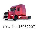 トラック セミトラック トレーラーのイラスト 43062207