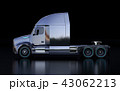 黒バックに黒色の北米仕様燃料電池電動トラックキャビンの側面イメージ 43062213