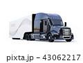 トラック セミトラック トレーラーのイラスト 43062217