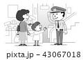 警備員 男性 警備のイラスト 43067018