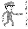 警備員 警備 男性のイラスト 43067032