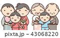夏祭り 浴衣 家族のイラスト 43068220