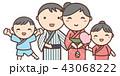 夏祭り 浴衣 家族のイラスト 43068222