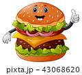 パン ブレッド ハンバーガーのイラスト 43068620