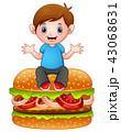 少年 パン ブレッドのイラスト 43068631