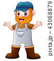 農業 農耕 コスチュームのイラスト 43068879