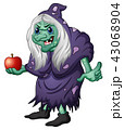 Illustration of Old evil witch holding an apple 43068904