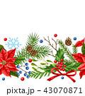 クリスマス デコレーション 装飾のイラスト 43070871