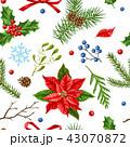 クリスマス デコレーション 装飾のイラスト 43070872