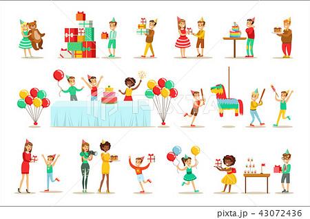Children Birthday Party Set Of Scenes 43072436