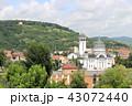 シギショアラの町並みと教会  ルーマニア ヨーロッパ 43072440