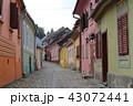 シギショアラ城塞内の路地  ルーマニア ヨーロッパ 43072441